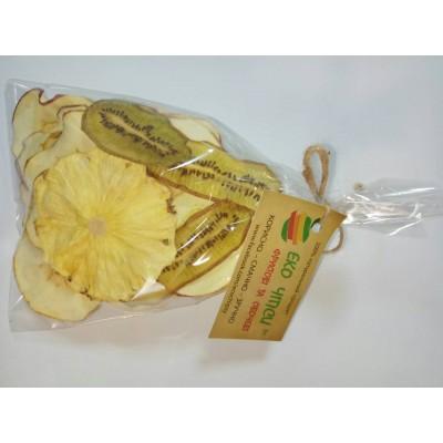 Еко Чіпси суміш (яблуко-35, ківі-9, ананас-6), 50г