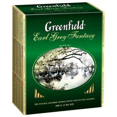 Чай GREENFIELD чорний з бергамотом (Earl Grey Fantasy) (100 пак)