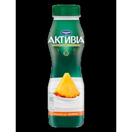 Активіа Біфідойогурт питний 1,5% 290г ананас