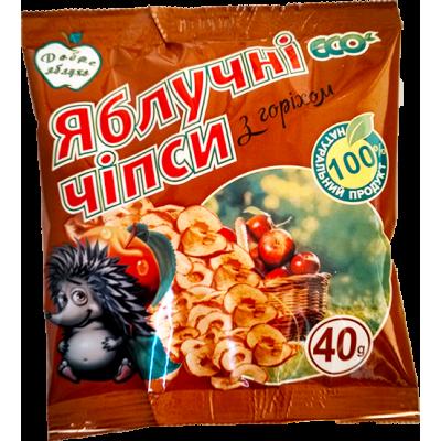 Яблучні чіпси з волоським горіхом Добре Яблуко 40гр