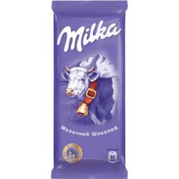 Молочний шоколад MILKA без додатків 90г