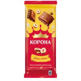 """Молочний шоколад """"Корона"""" з горіхами 85г"""