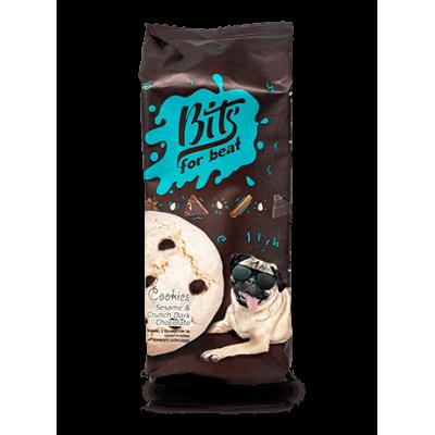 Bits Печиво безе з кунжутом та чорним шоколадом 100г