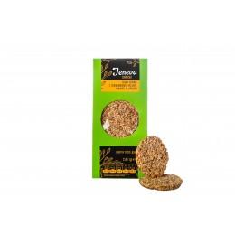 Jeneva CRUNCHY Снеки зернові з соняшникового насіння, кунжуту та арахісу 250г