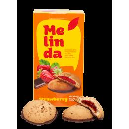 Печиво Melinda з полуницую та темним шоколадом 150гр